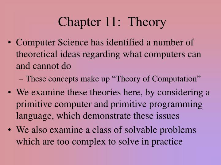 chapter 11 theory n.