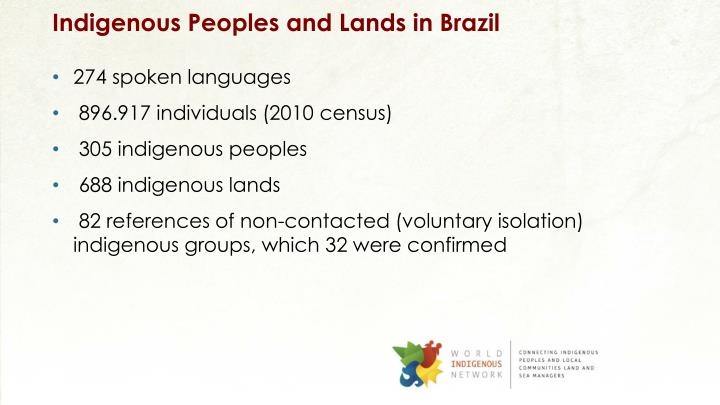 Indigenous Peoples and Lands in Brazil