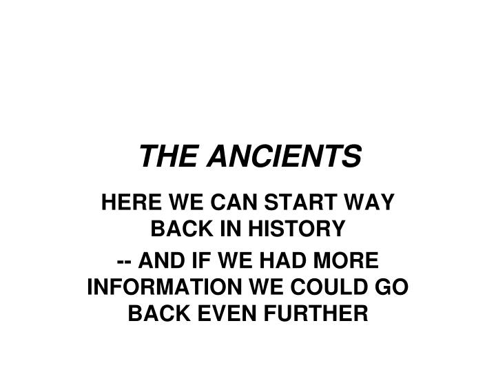 the ancients n.