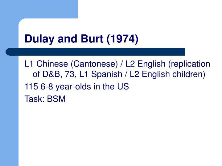 Dulay and Burt (1974)