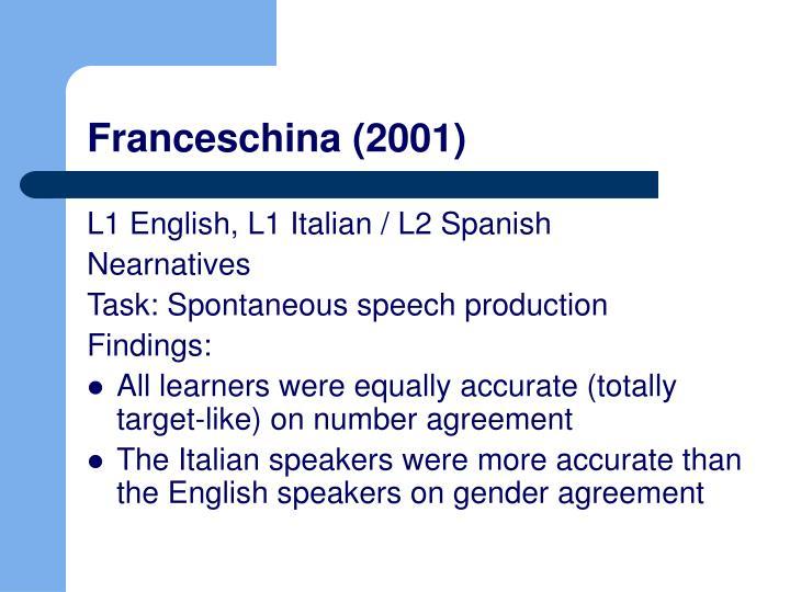 Franceschina (2001)