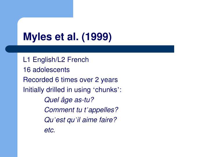 Myles et al. (1999)