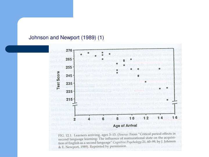 Johnson and Newport (1989) (1)
