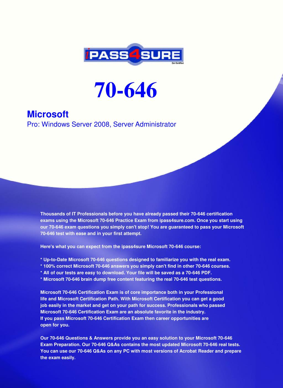Ppt 70 646 Powerpoint Presentation Id5764280