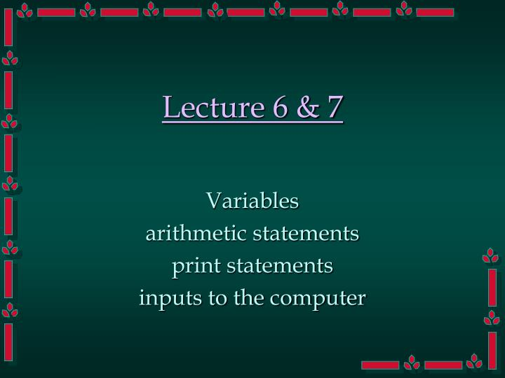Lecture 6 7