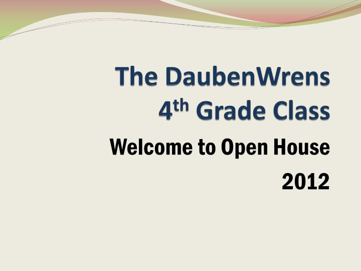 the daubenwrens 4 th grade class n.