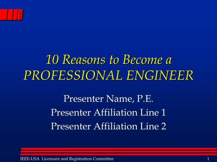 10 reasons to become a professional engineer n.