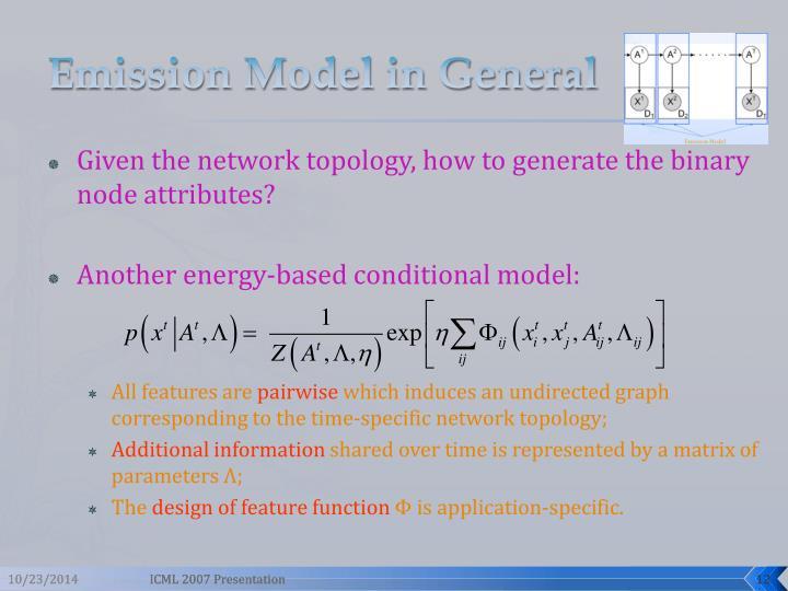 Emission Model in General