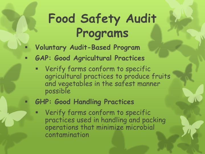 Food Safety Audit Programs