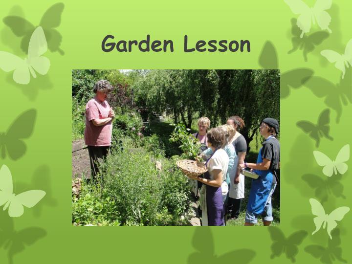 Garden Lesson