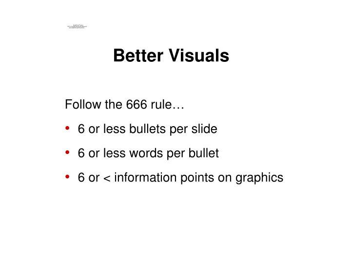 Better Visuals