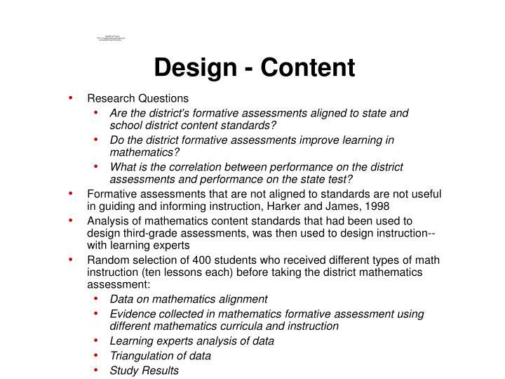 Design - Content