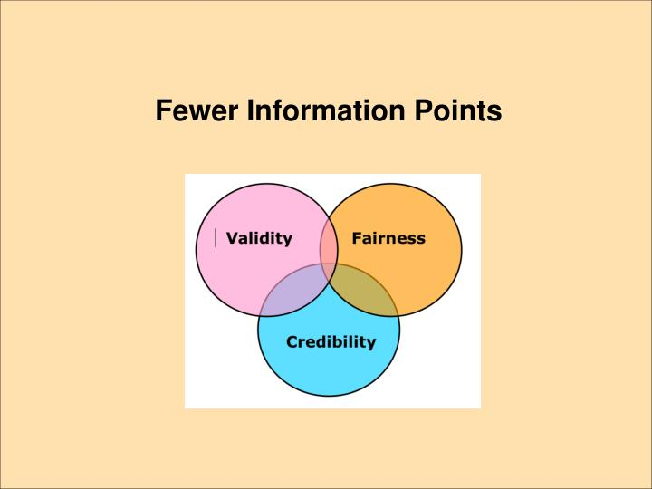 Fewer Information Points