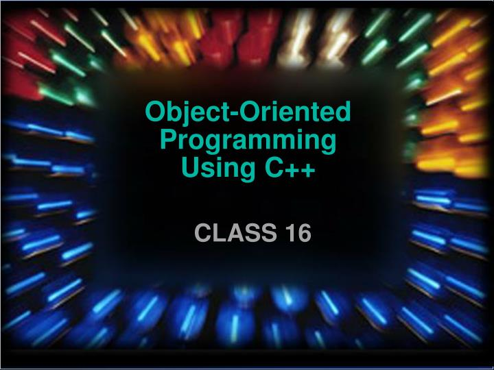 object oriented programming using c n.