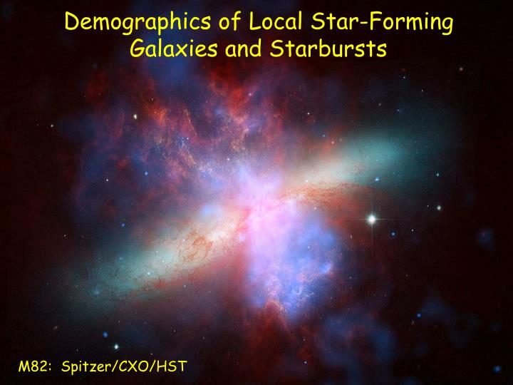 Demographics of Local Star-Forming Galaxies and Starbursts