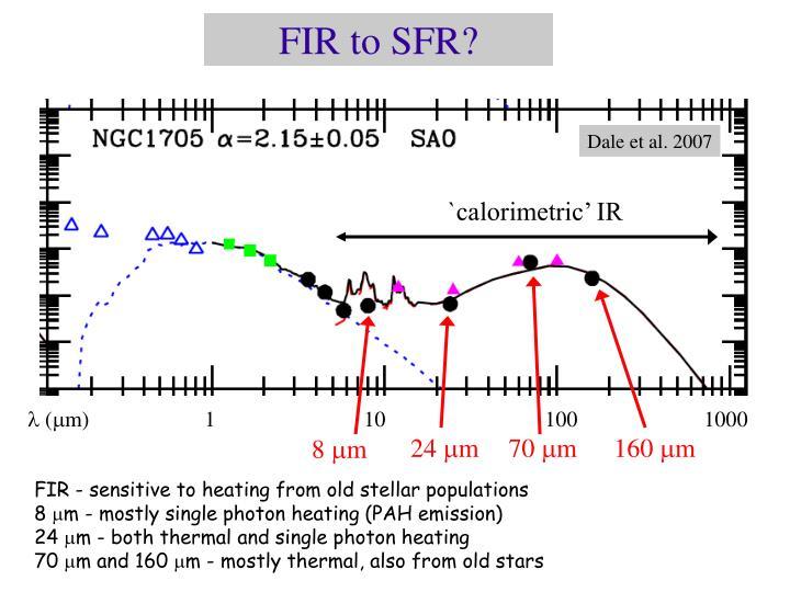 FIR to SFR?