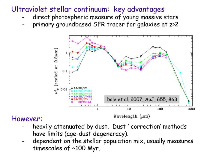 Ultraviolet stellar continuum:  key advantages