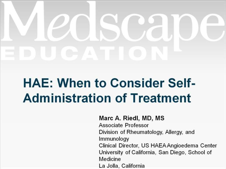 hae when to consider self administration of treatment n.