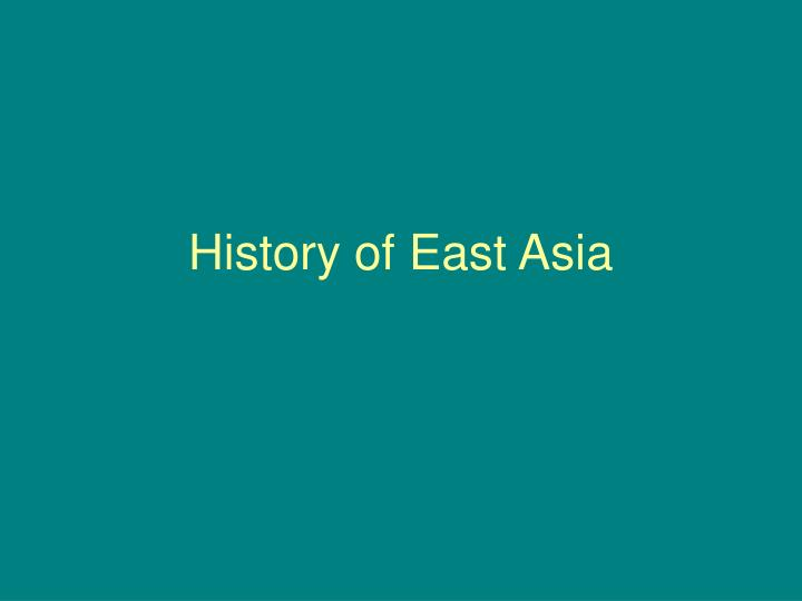 history of east asia n.