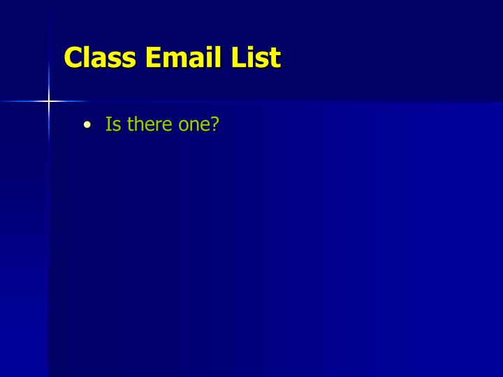Class Email List