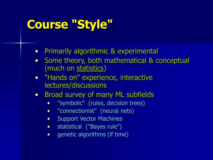 """Course """"Style"""""""