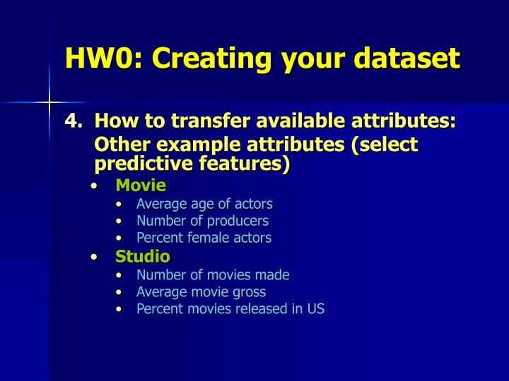 HW0: Creating your dataset