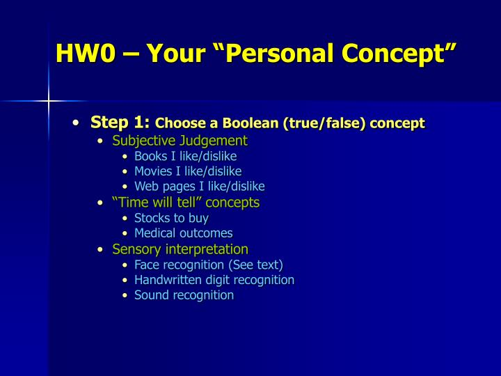 """HW0 – Your """"Personal Concept"""""""