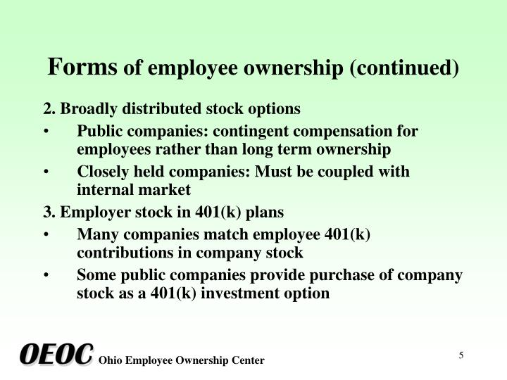 Stock ownership options