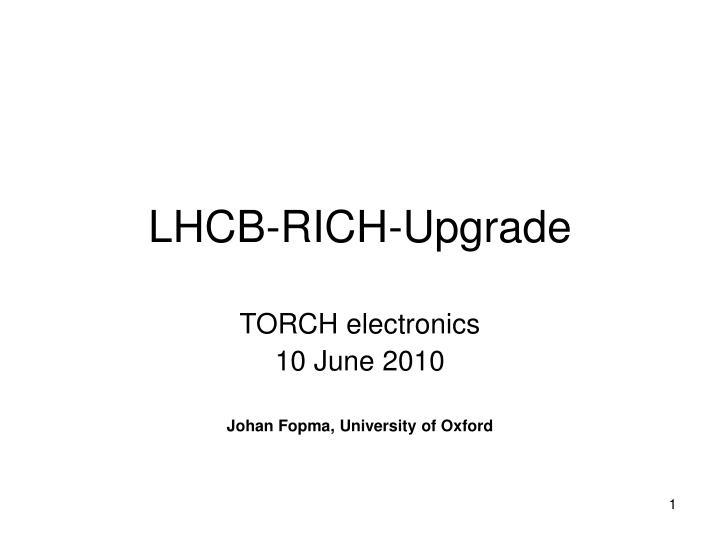 lhcb rich upgrade