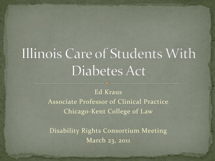 illinois care of students with diabetes act n.