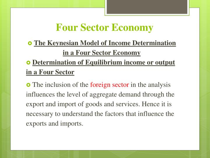 four sector economy n.