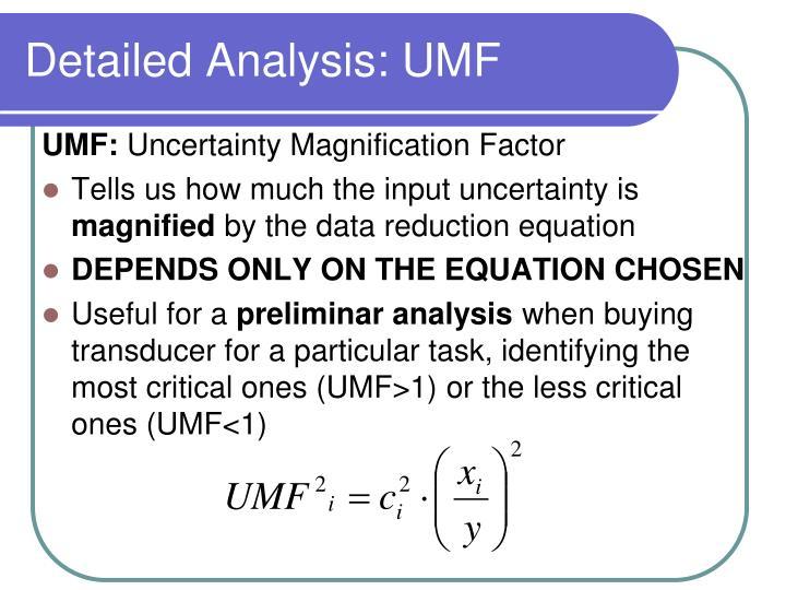 Detailed Analysis: UMF