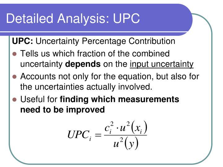 Detailed Analysis: UPC