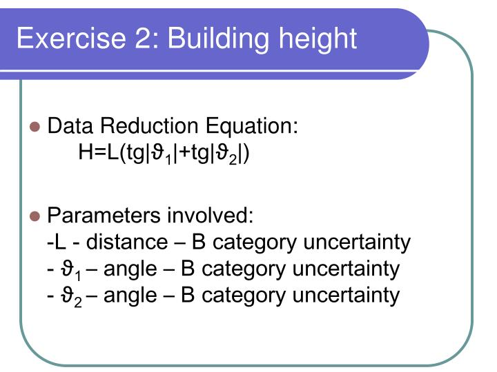 Exercise 2: Building height