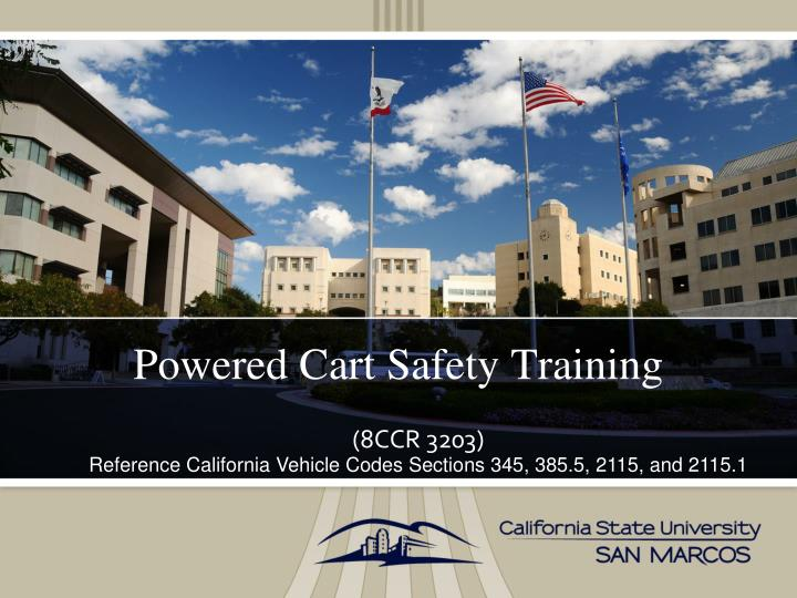 powered cart safety training n.