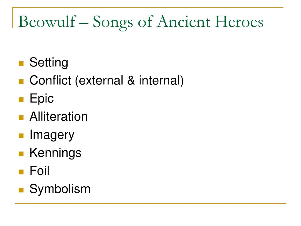 what is the setting of beowulf