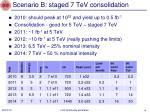 scenario b staged 7 tev consolidation