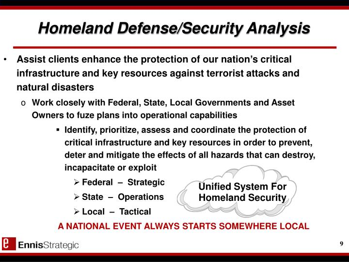 Unified System For Homeland Security