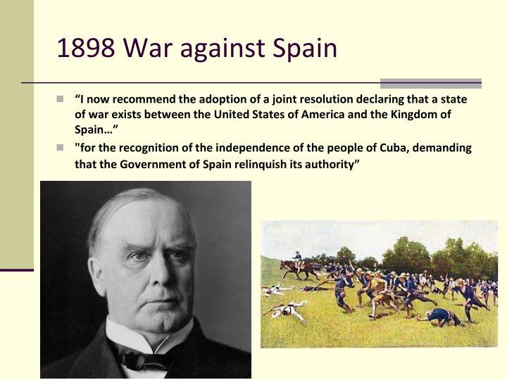 1898 War against Spain