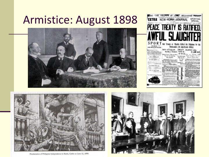 Armistice: August 1898