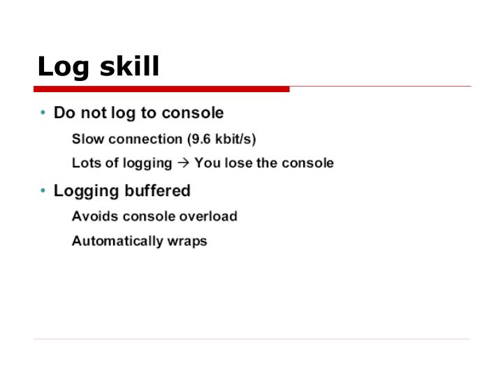 Log skill