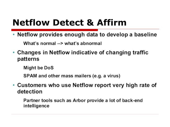 Netflow Detect & Affirm