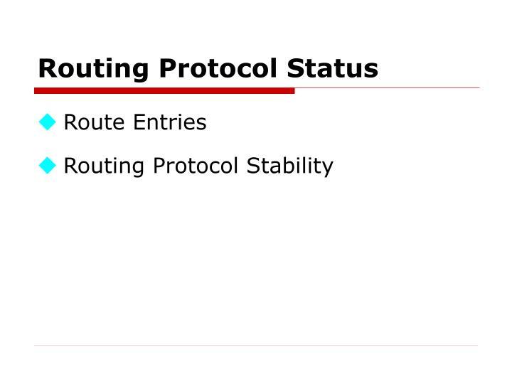 Routing Protocol Status