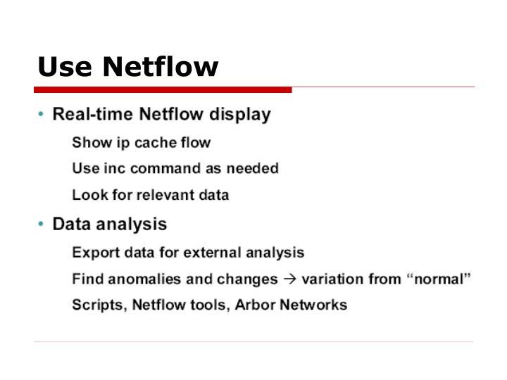 Use Netflow