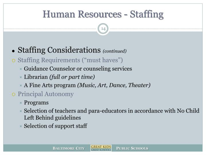 Human Resources - Staffing