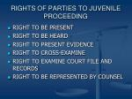 rights of parties to juvenile proceeding