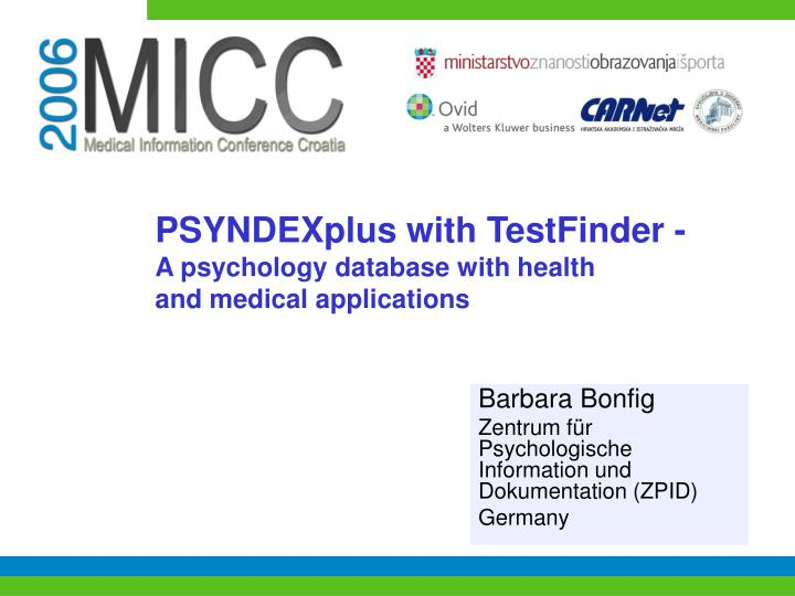 psyndexplus with testfinder a psychology database with health and medical applications n.