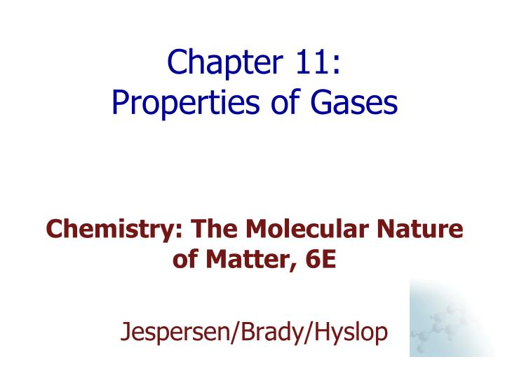 chapter 11 properties of gases n.