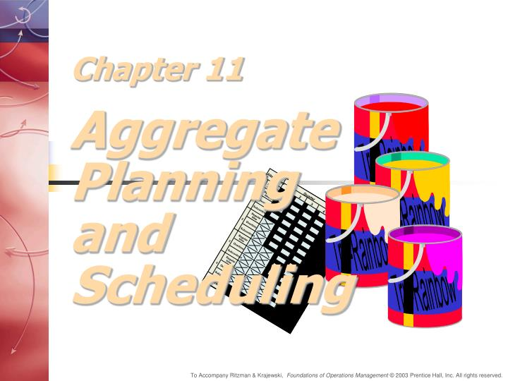 chapter 11 aggregate planning and scheduling n.