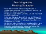 practicing active reading strategies